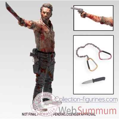 The walking dead: figurine rick grimes -MCF14479
