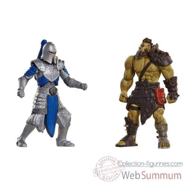 Warcraft: lot mini figurine guerrier horde et soldat de l\'alliance -JKK96255