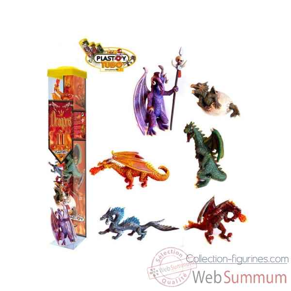 Collection les tubos tubo dragons 6 Figurine Plastoy 70366