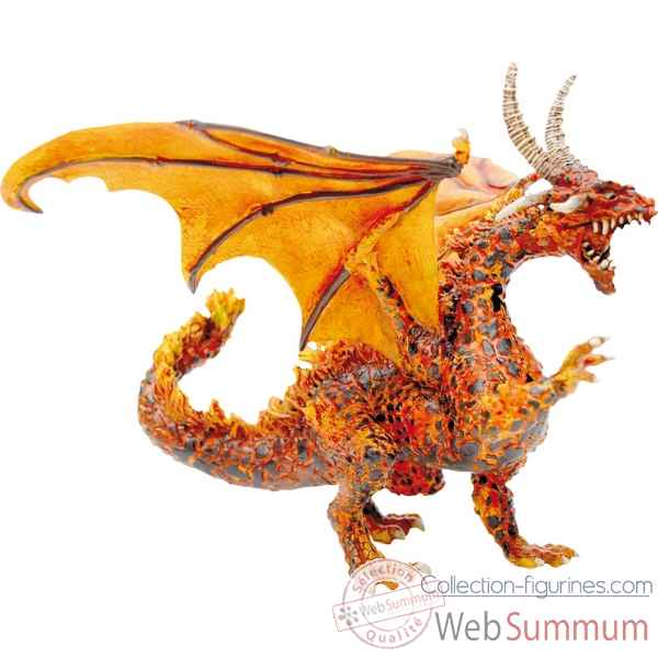 Figurine le grand dragon de feu  Plastoy 60225