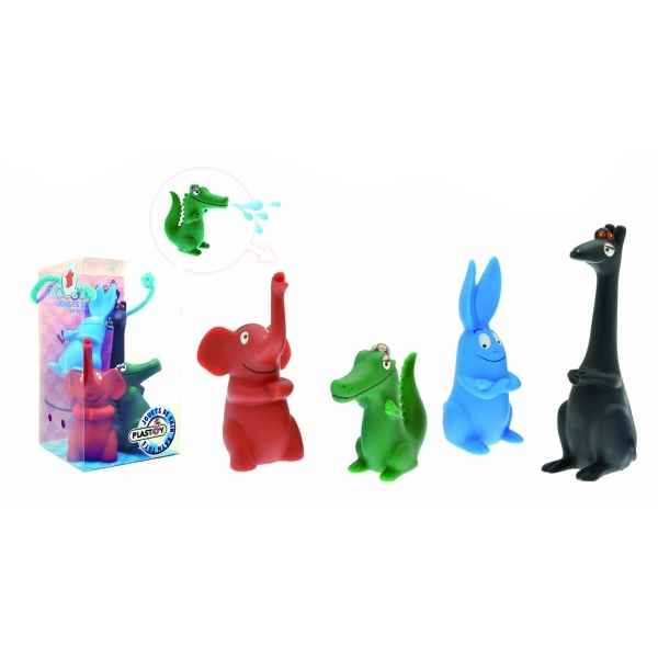 Figurine set n° 5 = 4 pieces barbapapa les animaux  Plastoy 80505