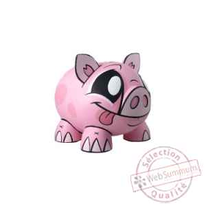 Joe ledbetter tirelire piggy bank pink 14 cm Play Imaginative -JL028763