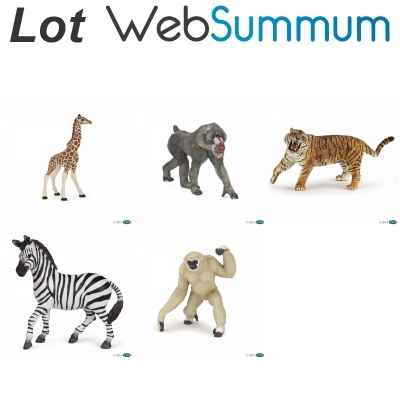 Promotion animal de la savane en figurine Papo -LWS-120