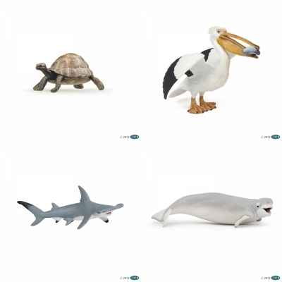 lot 4 figurines animaux marin Papo -LWS-119
