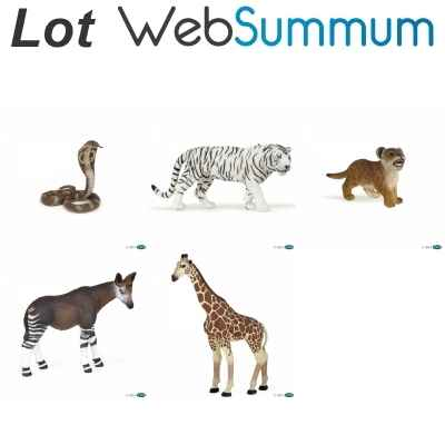 Lot 5 Figurines animaux de la savane Papo -LWS-123