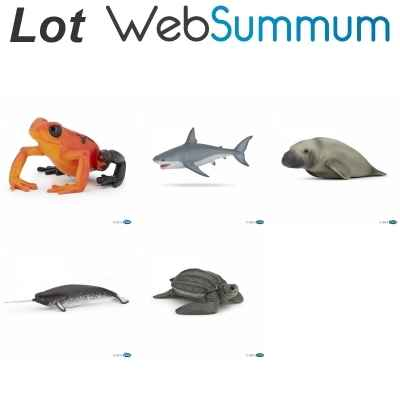 Lot 5 figurines animaux marins Papo -LWS-20