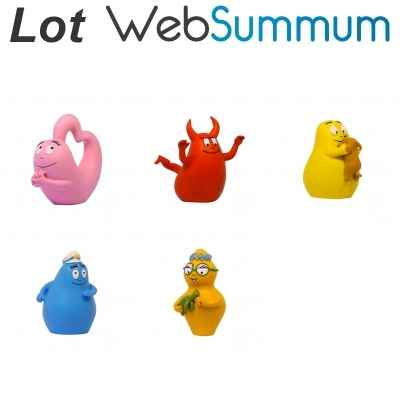 Lot 5 Figurines Barbapapa Plastoy -LWS-136