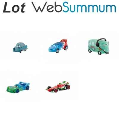 Lot 5 figurines Cars2 Bullyland -LWS-188