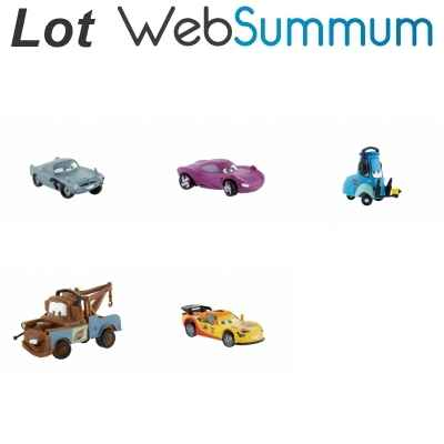 Promotion figurine Cars 2 Lot 3 Bullyland -LWS-190