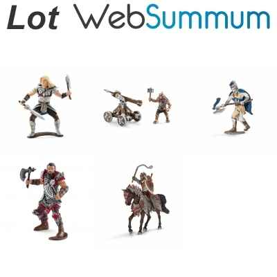 Lot 5 Figurines chevaliers Schleich -LWS-116