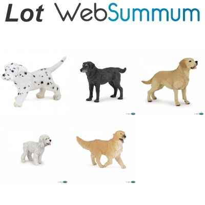 lot de 5 Figurines de chiens Papo -LWS-117