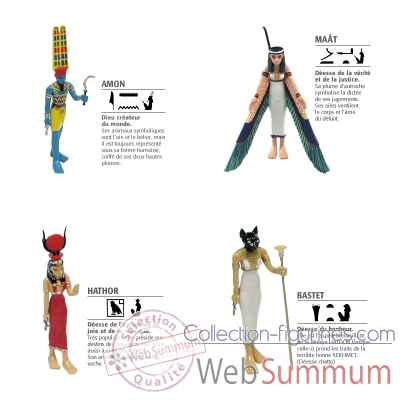 Lot 4 Figurines d\\\'Egypte Plastoy -LWS-126