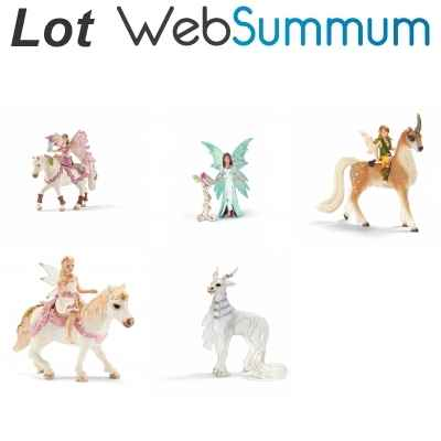 Lot 5 Figurines elfe Schleich -LWS-115