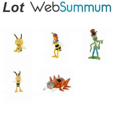 Lot 5 figurines Maya l\'abeille Bullyland -LWS-182
