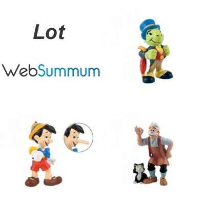 Lot 3 figurines Pinocchio Bullyland -LWS-187