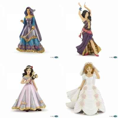 Lot 4 Figurines princesse papo -LWS-121