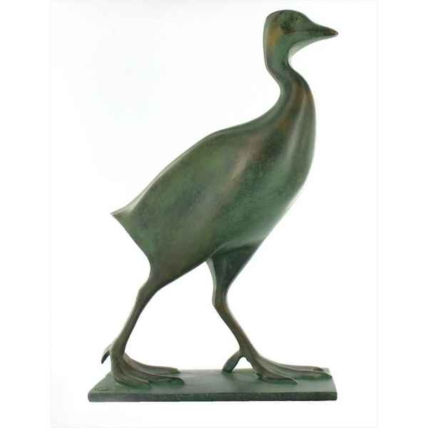 Statuette oiseau reproduction sculpture Foulque Pompon- RF005919