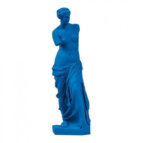 Reproduction statuette musee Venus de Milo POP art grec bleu clair Aphrodite -RB002327