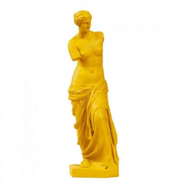 Reproduction statuette musee Venus de Milo POP art grec jaune Aphrodite -RB002330