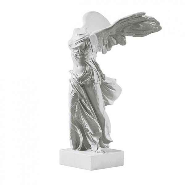 Statuette musee reproduction Victoire de Samothrace blanche art grec -RB202021