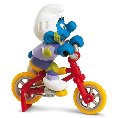 Video schleich-40252-Figurine schtroumpf sur son velo acrobatique