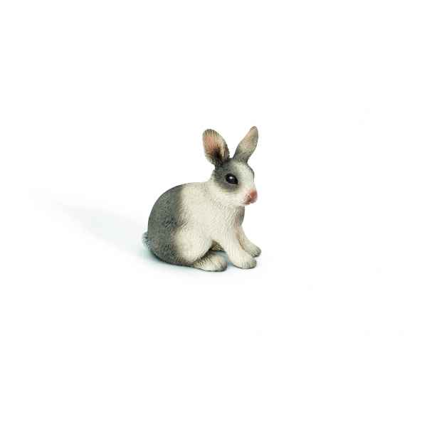 Figurine lapin assis animaux schleich 13673