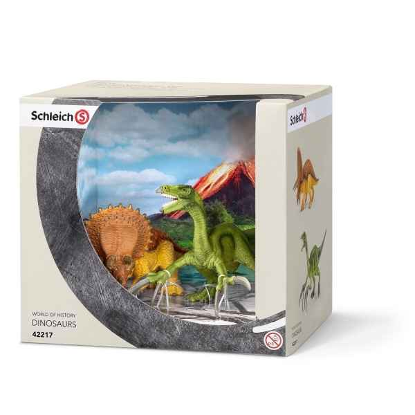 Petits triceratops et therizinosaure schleich -42217