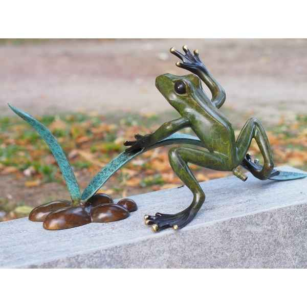 Grenouille entre roseaux fontaine Thermobrass -AN1936BR-HP-F