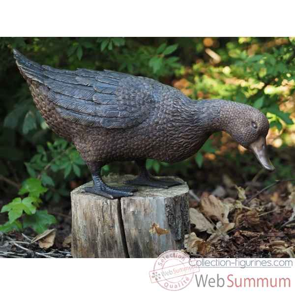 Sculpture canard en bronze thermobrass -an1232br-b