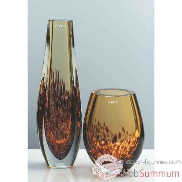 vase olive en verre formia v6011 dans vase verre de. Black Bedroom Furniture Sets. Home Design Ideas